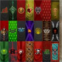 Fantasy banners for evil lords